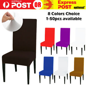 Stretch Chair Seat Cover Spandex Lycra Washable Dining Banquet Wedding Party NEW