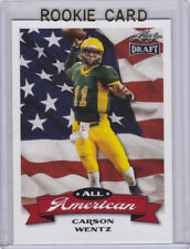 CARSON WENTZ All- American 2016 FOOTBALL ROOKIE CARD North Dakota State NCAA RC