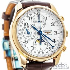 Longines Master Collection Chronograph 18k Rose Gold Calendar Watch L26738783