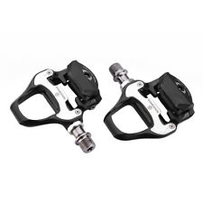 Rockbros Road Bike Self-lock Pedals with SPD-SL Cleats CR-MO Steel Axle Black