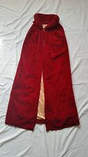 Vintage 1930's Red Velvet Opera Cloak Cape, Antique