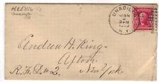 1908 Unadilla NY 319 duplex cancel Cover to Afton   Otsego County