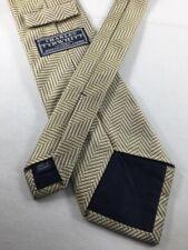CHARLES TYRWHITT Silk Tie~ $70 Beige Ivory Herringbone Solid Pattern 3088