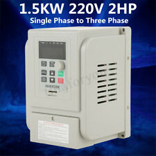 220V 2HP 1.5KW Single Phase To 3/Three Phase Output Frequency Converter VFD VSD