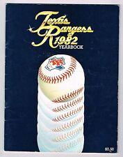 1982 Texas Rangers Mlb Baseball Yearbook