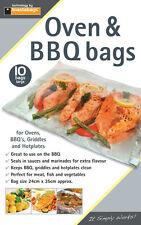 Horno & BBQ Bolsas paquete de 10 Sellos en salsa para extra sabor. 24x35 cm