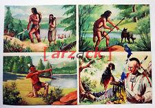 Album LONTANO WEST 1 DARDO 1962 - 4 figurine 71 72 77 78