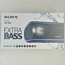 Sony SRS-XB41 Portable Wireless Bluetooth Speaker Black Brand New