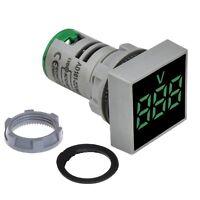 Panel Mount Square Display Digital Voltmeter AC 20 ~ 500v LED Display Grren