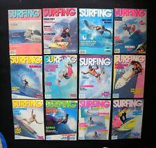 Surfing Magazine 1986 Vol.22 Lot Of 12 Issues Surfer Longboarding Hawaii