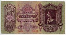 BILLET / Ungheria / HONGRIE / MAGYAR NEMZETI BANK / 100 SZAZ PENGO