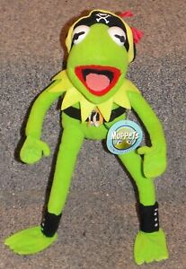 NANCO Jim Henson Muppets Kermit The Frog Pirate 10 inch Stuffed Toy with Tag