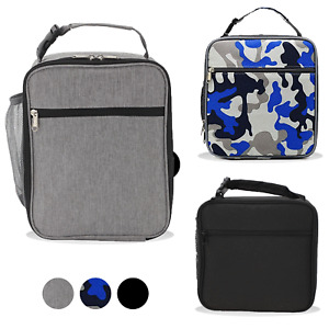 Insulated Lunch Bag Box for Women Men Thermos Cooler Hot Cold Adult Tote Food UK