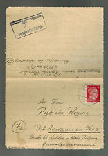 1944 Germany Haunstetten Dachau Concentration Sub Camp Cover Messerschmidt Werke