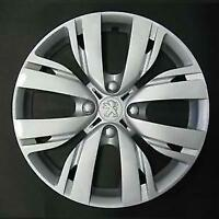 "LOT DE 4 ENJOLIVEURS 15"" LOGO CHROMÉ PEUGEOT 208 2012 5616/5"