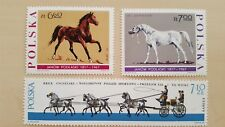 POLEN / POLAND 1965-67 3 HIGH VALUE HORSES STAMPS MNH