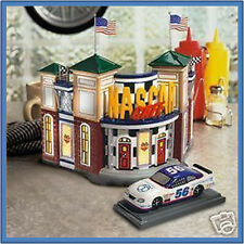 Dept 56 Snow Village NASCAR CAFE WITH RACING CAR NEW