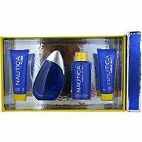 Nautica Aqua Rush 4 Piece Gift Set for Men EDT + Shower+ Aftershave + Body Spray