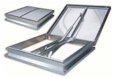 In acciaio INOX finestra a cupola AOV Tetto Vent 140 ° di Fumo Fuoco nhev 1 M x 1 M 24vdc
