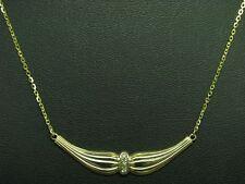 8kt 333 GOLD COLLIER MIT DIAMANT BESATZ / HALSKETTE / 1,9g / 43 cm