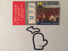 1977 Michigan v Ohio State THE GAME Original STUDENT Football Ticket Stub G+
