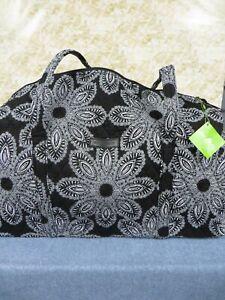 Vera Bradley Blanco Bouquet Large Duffel #15826-G07 Black & White - New w/Tag