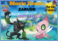 Zarude & Shiny Celebi The Pokemon Movie Event - Pokemon Sword and Shield