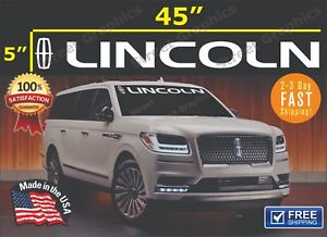 Lincoln Windshield vinyl Banner Decal sticker (all years and models)