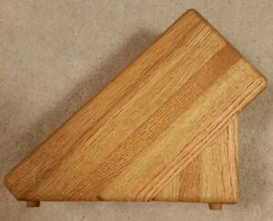 New Solid Oak Knife Block by J & L Custom Woodworking 7  Slots and 1 Steel Hole