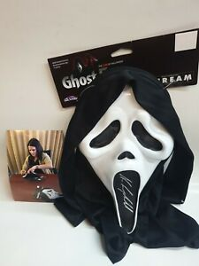 NEVE CAMPBELL SIGNED GHOSTFACE MASK WITH PHOTO