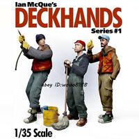 3 Sailors/Set 1/35 Scale Resin Kit Figure Model Unpainted Garage Kit Statue HOT