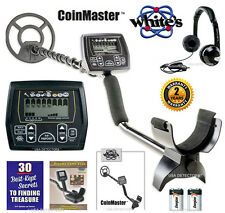 "NEW WHITES COINMASTER With 9"" WATERPROOF COIL & STARLITE HEADPHONES & MORE !"