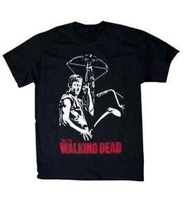 Authentic The Walking Dead Daryl Dixon Crossbow Zombie Killer Adult T Shirt L
