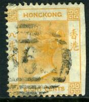 China 1864 Hong Kong 8¢ Pale Orange QV Wmk CCC SG #11 VFU J582 ⭐⭐⭐