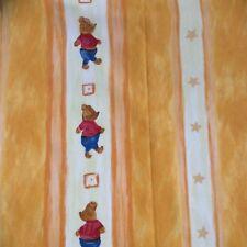 Children Bear Curtains (drop 136cm width 2 x 136) TIE BACKS