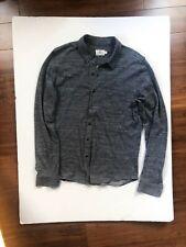 Mens AG Adriano Goldschmied Wool Slub Button Down Shirt Jacket Slim Gray M