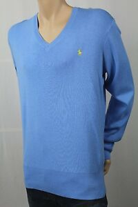 Children POLO Ralph Lauren Blue Cotton Sweater Yellow Pony NWT