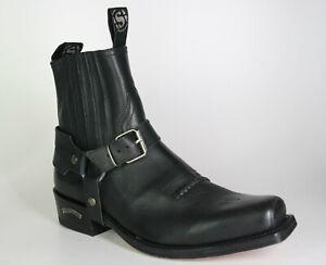 6445 Sendra Ankle Boots Dark Biker Biker Boots Frame Sewn