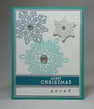 Stampin Up FLURRY OF WISHES Photopolymer Stamp Set/SNOW FLURRY Punch  CHRISTMAS