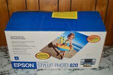 NEW - (Open Box) - EPSON Stylus Photo 820 Ink Jet Printer w/ Ink - (Please Read)