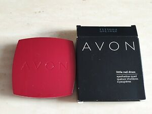 AVON LITTLE RED DRESS EYE SHADOW QUAD STARLET WITH BRUSH AND MIRROR NEW IN BOX