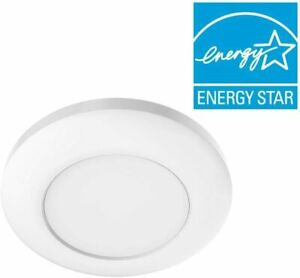 """2 pack Commercial Electric 4"""" White Recessed LED Can Disk Light"""