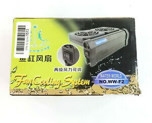 Water World Aquarium Fan Cooling System WW-F2