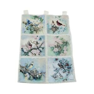 Songs of Spring Birds Cardinals Blue Jay Tapestry Wall Hanging Artist Lena Liu
