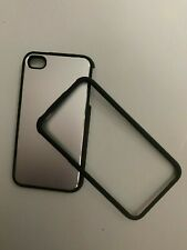 2 IN 1 SILVER METAL BACK CASE COVER FOR iPHONE 4,4S,4G  WITH SCREEN PROTECTOR