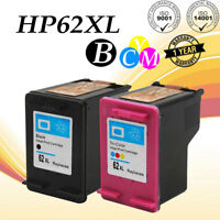 2 PK 62 XL Black/Color Ink Cartridge For HP ENVY 5660 7640 7645 OfficeJet 5740