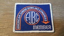 Vintage AJBC Junior Bowling Congress Member Patch