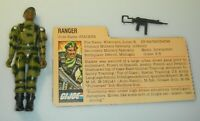 1982 GI Joe Ranger Stalker Straight Arm v1 Figure w/ File Card *Complete BROKEN*