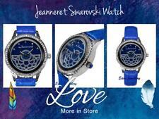 Gorgeous JEANNERET Watch SWAROVSKI Crystals Genuine Blue Leather MONTESSORI