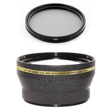 72mm 2.2x Tele Lens + CPL Filter for Sony SLT-A77 A77 DSLR  HXR-NX5U HVR-Z5U Z7U